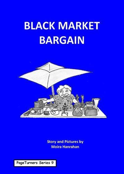 Black Market Bargain, cover illustration by Moira Hanrahan, PageTurners