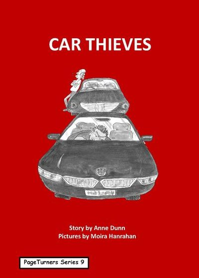 Car Thieves, cover illustration by Moira Hanrahan, PageTurners