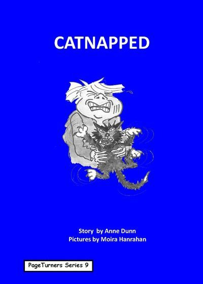 Catnapped, cover illustration by Moira Hanrahan, PageTurners