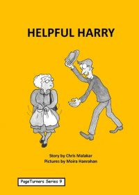Helpful Harry, cover illustration by Moira Hanrahan, PageTurners