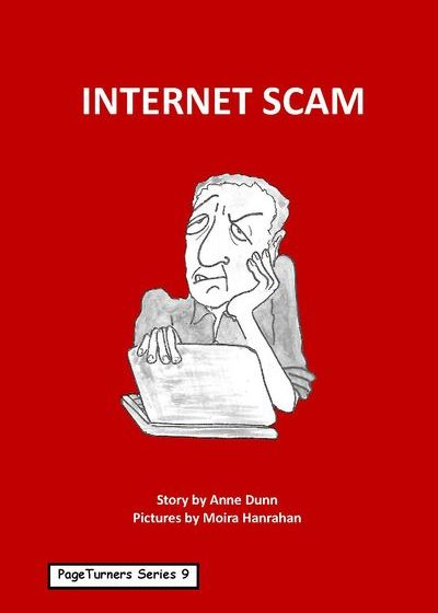 internet scam, cover illustration by Moira Hanrahan, PageTurners