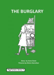 The Burglary, cover illustration by Moira Hanrahan, PageTurners
